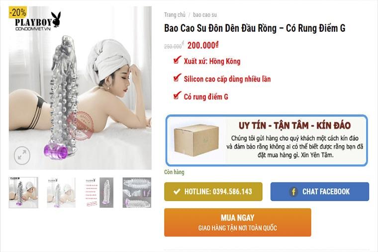 Giá bao cao su đầu rồng tại shop condomviet.vn
