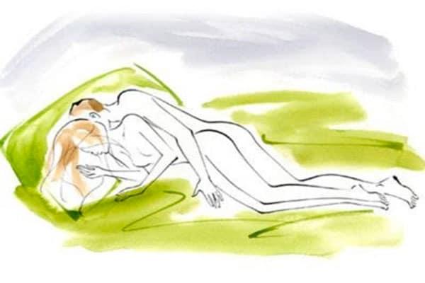 Úp thìa là tư thế quan hệ dịu dàng, từ từ